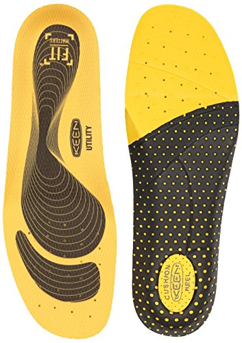 KEEN Utility Men's K-10 Insole Replacement with Heel Pad for Neutral Arch Support in Work Boots Accessories, Yellow, M