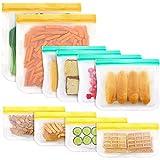 Cxssxling - 10 bolsas de congelación reutilizables, PEVA, bolsa de almacenamiento de alimentos, para conservación de verduras, frutas, carne, peces y pan