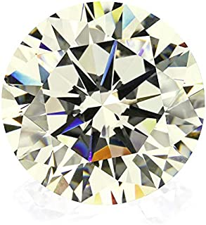 6A 1000PCS Star Cut CZ Gemstone Round Brilliant Shape IJ Color Little Yellow Cubic Zirconia (2.1MM)