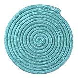 Leezo - Cuerda de gimnasia rítmica de color arcoíris para competición, artes y entrenamiento, cuerda de gimnasia, cuerda de saltar para ejercicio y fitness, azul