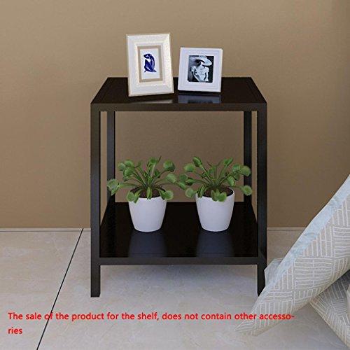 Stockage à domicile,Canapé Côté armoire table de chevet, fer européenne simple coin carré armoire petit thé armoire chambre chevet armoire, rack de stockage (taille: 50 * 40 * 35cm) , article frame white