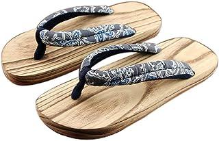 Panda Legends Hombres Japoneses Zuecos De Madera Sandalias Japón Zapatos Planos Anchos Tradicionales Grises Geta Antidesli...