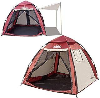 montagna 4WAYスマートビルドメッシュテント 4~5人用 キャノピー付き 広げて、持ち上げて、下ろすだけの簡単設置