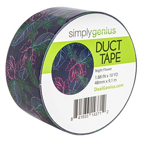 Simply Genius (Single Roll) Patterned Duct Tape Roll Craft Supplies for Kids Adults Colored Duct Tape Colors, Night Flow