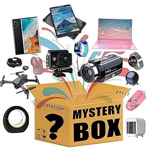 MKKYDFDJ Mystery Box, Mystery Box Electronics, Mystery Boxes Random, Birthday Surprise Box, Lucky Box for Adults Surprise Gift, Such As Drones, Smart Watches, Gamepads and More
