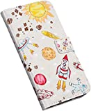 Jinghuash Funda Compatible con Samsung Galaxy S9 Funda Libro Estuche de Cuero Estampado Lindo patrón Libro de Cuero con Tapa y Cartera, Carcasa PU Leather con TPU Silicona Case Interna Suave,Cohete