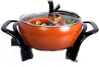 Feceyq Mini Portable Electric Hot Pot, Cast Aluminum Alloy Pot, Tile Multifunctional Steam Electric Kettle, Egg Soup Pot, Iron Pot