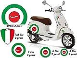 senza marca Adhesivo para Vespa – Kit Piaggio Vespa, bandera de Italia con forma de círculo
