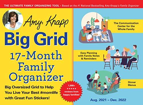 2022 Amy Knapp's Big Grid Family Organizer Wall Calendar: 17-Month Giant Fridge Calendar for Mom with Stickers (Amy Knapp's Plan Your Life Calendars)
