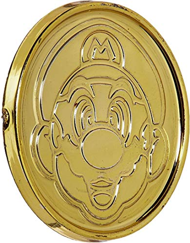 amscan Super Mario Brothers Gold Coins, Party Favor, 1 3/8 x 1/8