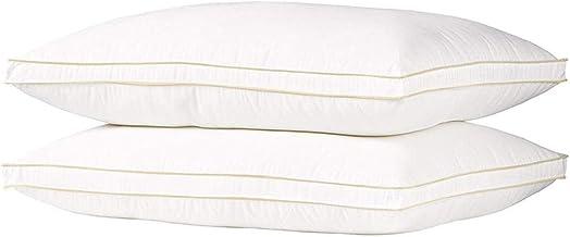 Hotel pillow nano feather alternative filler 50/75 cotton blind - set of 2 pcs