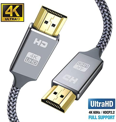 4K HDMI Cable 6 6ft Grey Snowkids with 18 Gbit s 4K 60 Hz Support for 3D UHD 2160P Ethernet product image