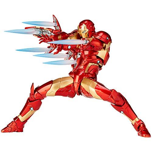 Kaiyodo Iron Man Complex Amazing Yamaguchi Revoltech Series No. 013: Iron Man Bleeding Edge Armor 170mm Figura de Acción