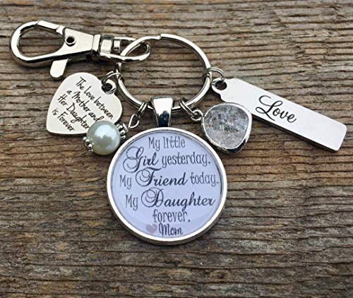 Bride gift, Bridal bouquet charm, daughter gift, bridal shower gift, wedding bouquet charm, bride to be, engagement, i do, walking down the aisle, daughter wedding