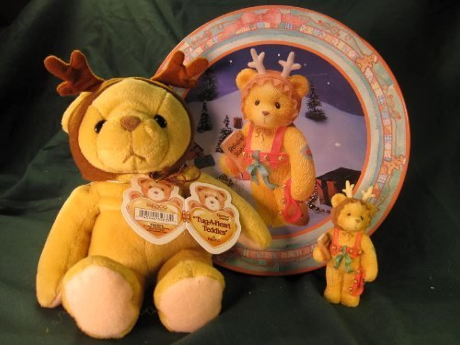 Cherished Teddies.......... A Gift To Go With Holiday Gift Tin by Pricilla and Glenn Hillman's Cherished Teddies Collection