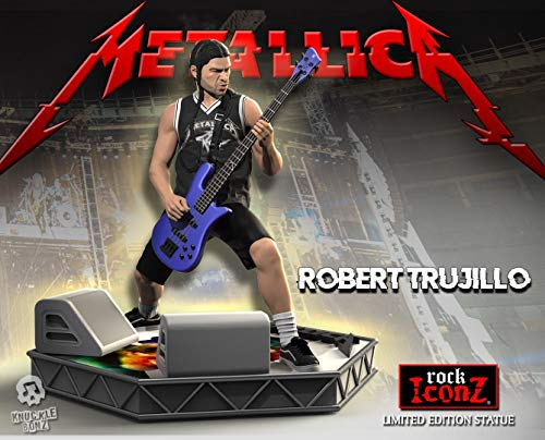 Knucklebonz - Robert Trujillo (Metallica) Limited Edition Collectible Statue (only 3000 Created) - Rock Iconz, Officially Licensed, Includes CoA