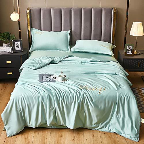 Bedding-LZ Funda de edredón de 105-,Día de Color sólido Cuatro Paquetes de Lujo Ligero.-C_Cama de 150 cm