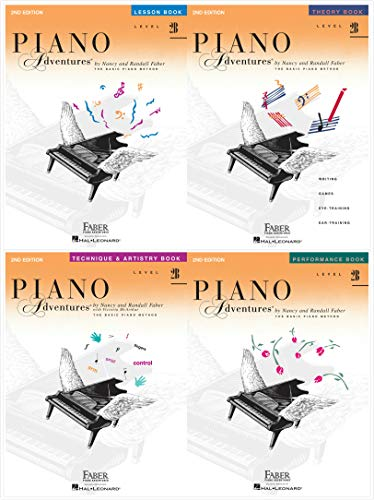 NEW Faber Piano Adventures Level 2B Set (4 Books) 2nd Edition - Lesson 2B, Theory 2B, Technique & Artistry 2B, Performance 2B
