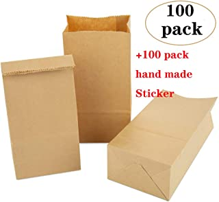 120Pcs//Pack 6Lb Duro White Rainbow Paper Bag 6 x 11 x 3-5//8