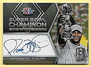 2018 Spectra Super Bowl Champion #40 Jerome Bettis On Card Autograph #07/15