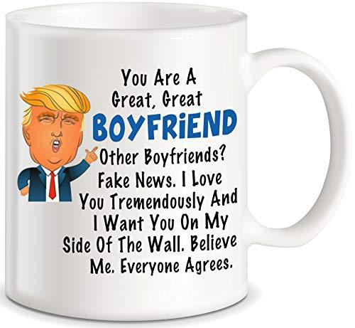 Donald Trump - Taza de café con texto en inglés'BF Men'