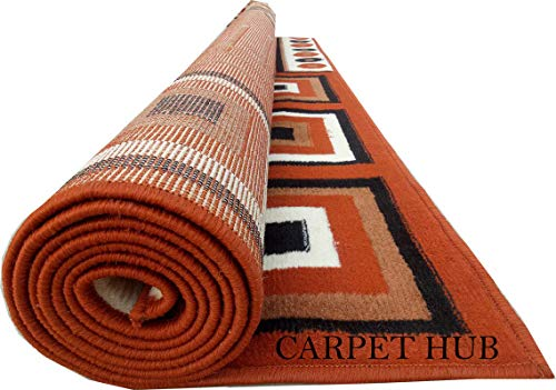 Antibacterial Carpet for Home   Kitchen   Kids Room   Bedoom   Office   Living Room   with Stylish Design & Competitive Price   Carpet Hub   (4 x 5 Feet, Orange)