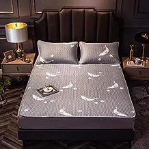 Latex Mat Printing Cooling Summer Sleeping Mat with Pillow Shams Mattress Protector Sheet Summer Foldable Comfortable,Feat...