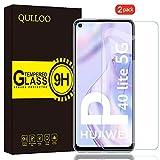 QULLOO Panzerglas für Huawei P40 Lite 5G, 9H Hartglas Schutzfolie HD Bildschirmschutzfolie Anti-Kratzen Panzerglasfolie Handy Glas Folie für Huawei P40 Lite 5G