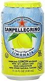 San Pellegrino Sparkling Beverage, Limonata (Lemon), 11.15 Fl Oz Cans, Pack of 24