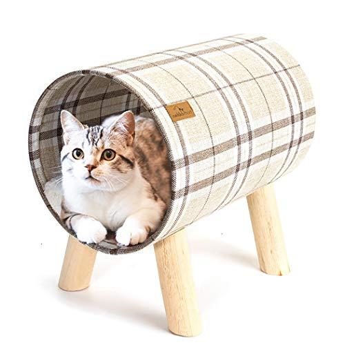HTGL Cama para Gatos ExtraíBle Y Lavable Suministros para Mascotas Gatos Cama Mascotas Nido Casetas Y Condominios para Gatos,con CóModa Almohadilla para Dormir