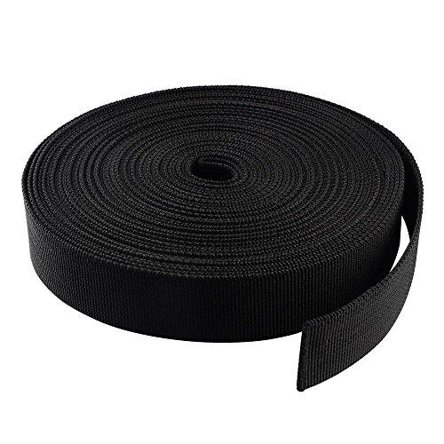 Multifunzione Peso Leggero In Nylon Tessuto Tessitura Nastro Per Cintura Di Imballaggio Fornisce Accessori Di Materiali Per Fai Da Te (10M Nero)