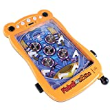 YUANP Juego De Pinball Juego De Pinball Súper Electrónico Máquina De Pinball para Adultos Arcade Retro Diseño De Seis Barras Juguetes Educativos, Yellow