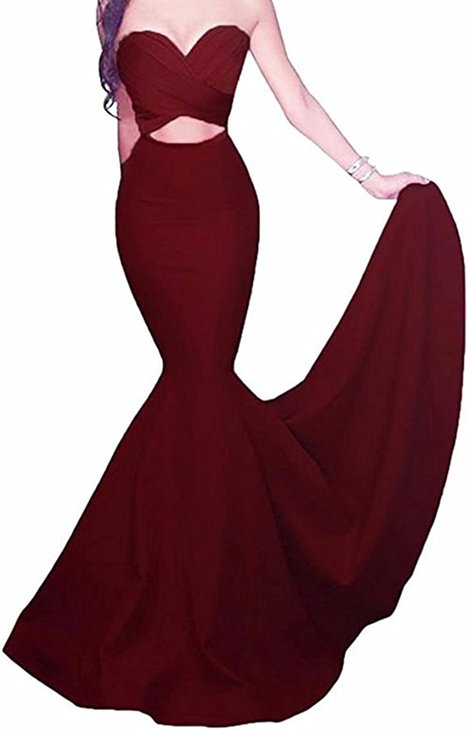 Beautydress Sexy Women Mermaid Prom Dress Cut Out Long Evening Party Gowns BP064