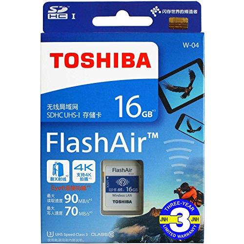 FlashAir 16GB 基本性能と無線転送速度が進化した最新世代東芝 TOSHIBA Wi-Fi SDHCカード 日本製【3年保証】 (16GB) [並行輸入品]