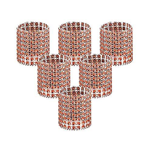 Serviettenringe, Roségold Bling Strass Diamant Serviettenschnallen für Tischdekoration, Hochzeit, Abendessen, Party, DIY Dekoration, Set mit 50 Stück