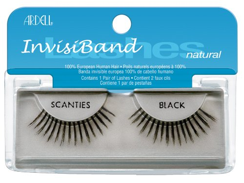 Ardell Invisiband Lashes, Scanties Black, 1 Pair (Pack of 3)
