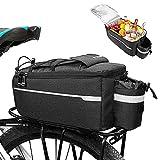 Bolsa Trasera Impermeable para Bicicleta, Bolsa Maletero de Ciclismo, Bolsa térmica para Bicicleta, Bolsa Alforja para Bicicleta, Bolsa para Asiento de Bicicleta, para Bicicleta (Negro)