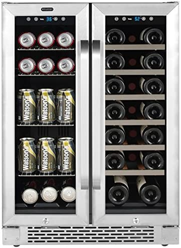 Whynter Cooler BWB 2060FDS 24 Built In French Door Dual Zone 20 Bottle Wine Refrigerator 60 product image