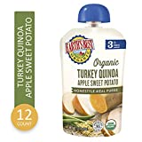 Earth's Best Organic Stage 3 Baby Food, Turkey Quinoa Apple Sweet Potato, 3.5 oz. Pouch,  6 Pack
