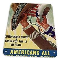ゲーミングマウスパッド - プロパガンダアメリカーノアメリカ戦争メキシコアンクルサム マウスパッド おしゃれ ゲームおよびオフィス用/防水/洗える/滑り止め/ファッショナブルで丈夫 25x30cm