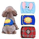Geluode Paquete de 3 pañales para perro masculino, reutilizables y lavables, para perros pequeños y medianos