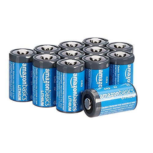 Amazon Basics, batterie al litio CR2, da 3 V, Confezione da 12
