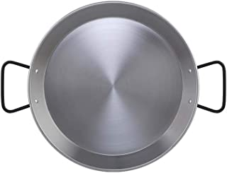 MGE Made in Spain 34 cm Round Dish for Paella Polished Steel Paella Pan