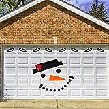 Feliz Navidad Puerta De Garaje Al Aire Libre Cubierta De La Bandera Decoración Mural, Juegos De Muñeco De Nieve De Navidad De Bricolaje Set Puerta De Garaje Old Elk Elk Bow Hat