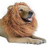 DIBBATU Lion Mane Costume Lion Mane Wig for Large/Medium Dogs Halloween Fancy Hair, Brown