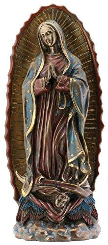 Estatua de Resina Virgen María de Nuestra Señora de Guadalupe, Color Bronce