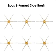 Lixada 6pcs Robot Vacuum Cleaner Parts Side Brush 6-armed Replacement for iRobot Roomba 500 600 700 Series Cleaning Sweeper