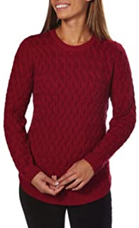 Jeanne Pierre Ladies Crewneck Sweater (Red Currant, Small)