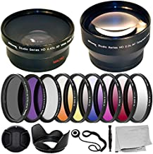 Ultimaxx 55MM Complete Lens Filter Accessory Kit with 55MM 2.2X Telephoto.43x Wide Angle/Macro Lenses, and More Designed for Nikon D3400 D3500 D5500 D5600 Camera with Nikon AF-P DX 18-55mm Lens