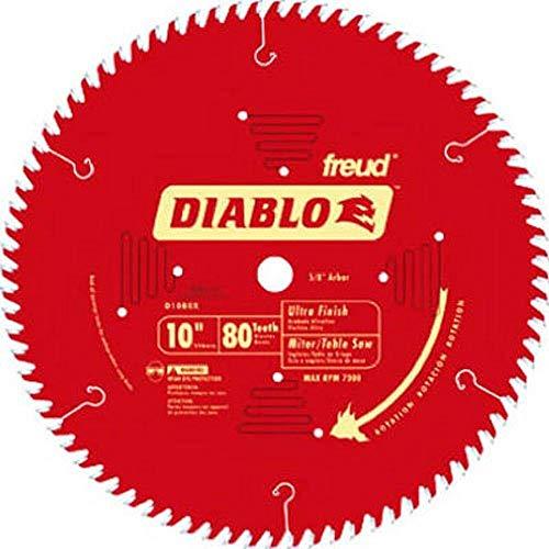 "Freud D1080X Diablo 10"" 80-tooth ATB Saw Blade w/5/8"" Arbor&PermaShield Coating"